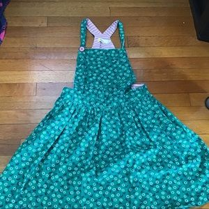Mini Boden Green Floral Dress